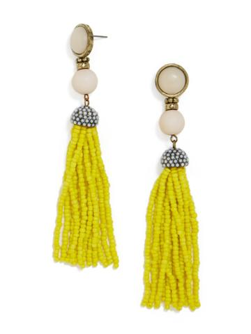 BaubleBar Artemis Tassel Earrings-Yellow