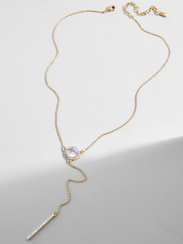 BaubleBar Elsha Resin Y-Chain Necklace