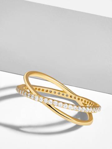 BaubleBar Voglia 18k Gold Plated Ring