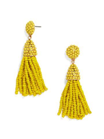 BaubleBar Mini Pinata Tassel Earrings-Yellow