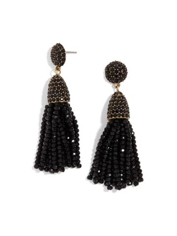 BaubleBar Mini Gem Pinata Tassel Earrings-Black