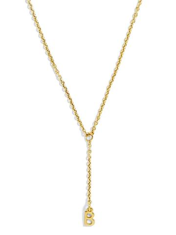 BaubleBar Delicate Y-Chain Necklace