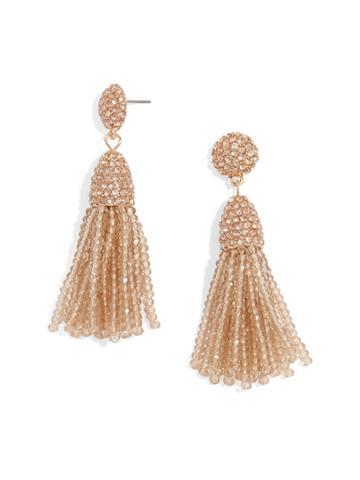 BaubleBar Mini Gem Pinata Tassel Earrings-Champagne
