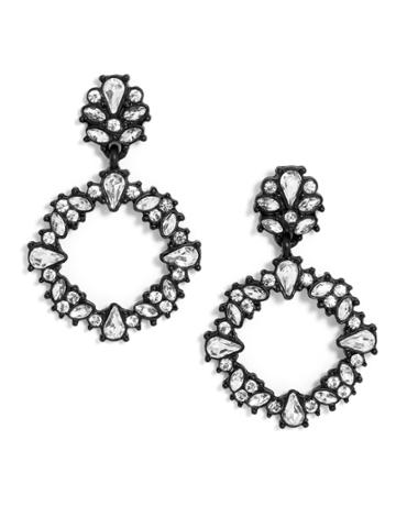 BaubleBar Magnolia Hoop Earrings