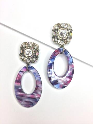 BaubleBar Diana Resin Drop Earrings