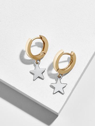BaubleBar Lumen Huggie Hoop Earrings
