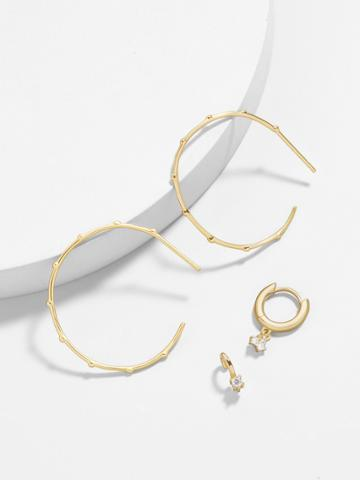 BaubleBar Anella 18K Gold Plated Earring Set