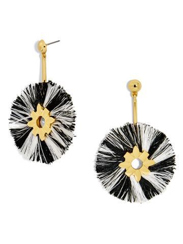 BaubleBar Rosita Drop Earrings-Black/White
