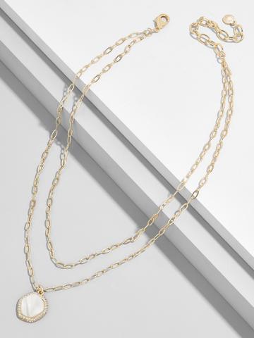 BaubleBar Elizandra Resin Pendant Necklace