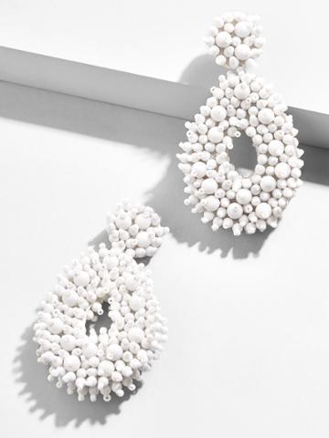 BaubleBar Melayna Drop Earrings-White