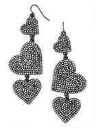 BaubleBar Serenity Heart Drop Earrings