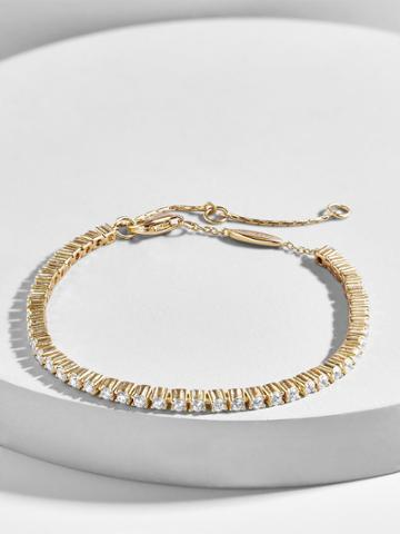BaubleBar Riga 18k Gold Plated Tennis Bracelet