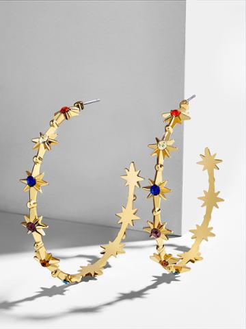 BaubleBar Michele Hoop Earrings