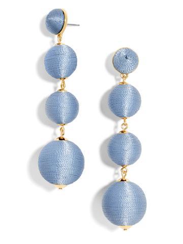 BaubleBar Criselda Ball Drop Earrings-Periwinkle