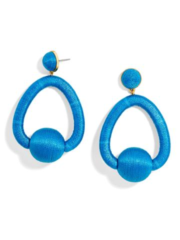 BaubleBar Mariela Hoop Earrings-Cerulean