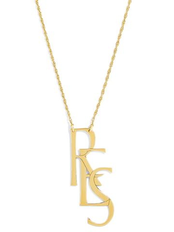 BaubleBar Say It Initial Pendant Necklace