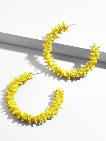 BaubleBar Mareesa Hoop Earrings-Yellow