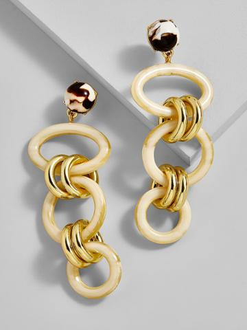 BaubleBar Fabella Linked Drop Earrings