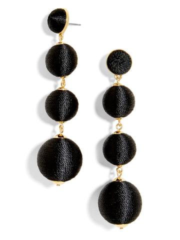 BaubleBar Criselda Ball Drop Earrings-Black