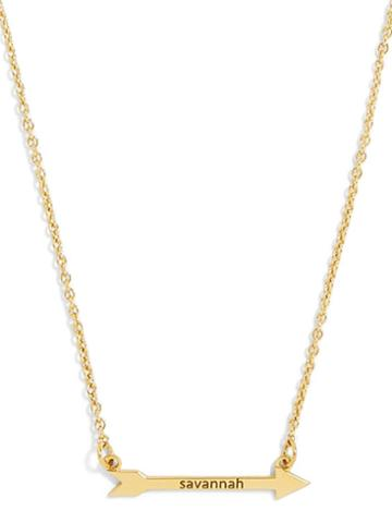 BaubleBar Arrow Nameplate Necklace