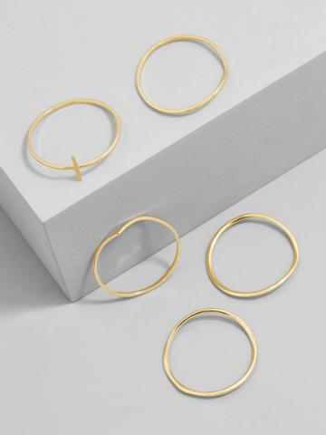 BaubleBar Quintet Everyday Fine Ring Set