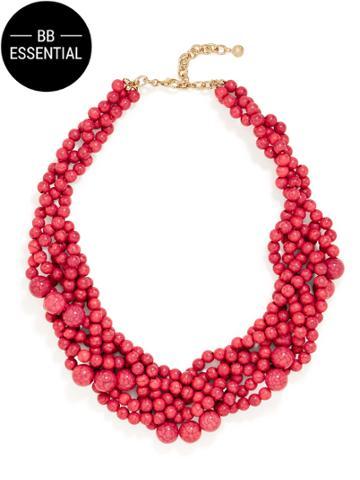 BaubleBar Bubblestream Collar-Cracked Hot Pink