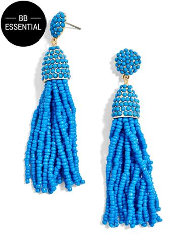 BaubleBar Pinata Tassel Earrings-Cerulean