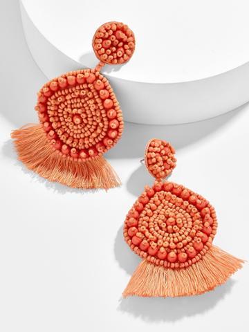 BaubleBar Mietta Drop Earrings-Orange