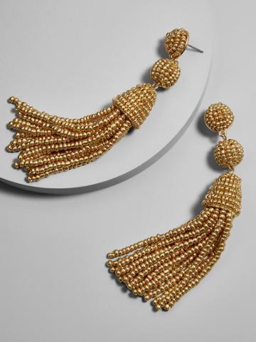 BaubleBar Granita Tassel Earrings-Gold