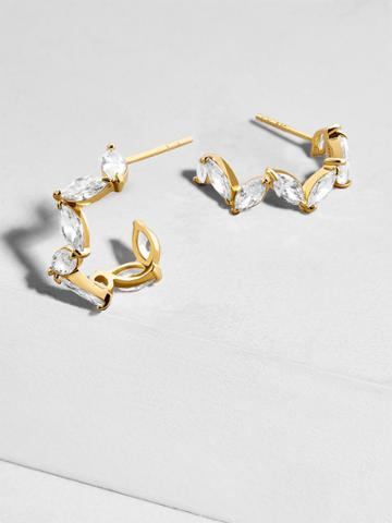 BaubleBar Flori 18k Gold Plated Huggie Hoop Earrings