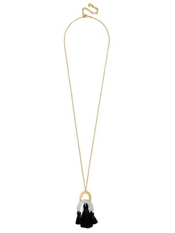 BaubleBar Shamia Pendant Necklace-Black