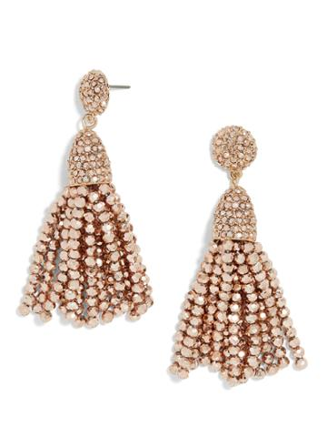 BaubleBar Mini Metallic Pinata Tassel Earrings