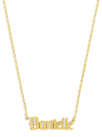 BaubleBar Renaissance Nameplate Necklace