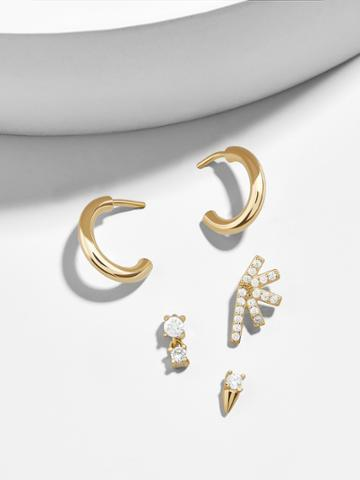 BaubleBar Cinque 18K Gold Plated Earring Set