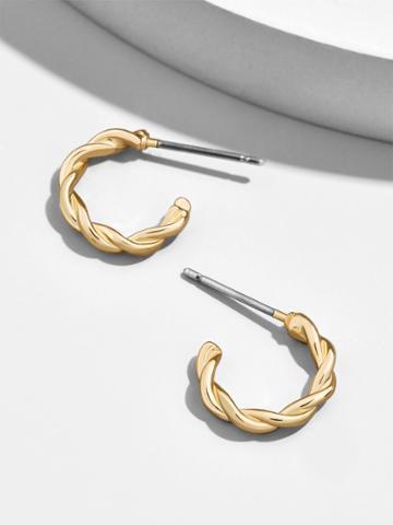 BaubleBar Minette Huggie Hoop Earrings