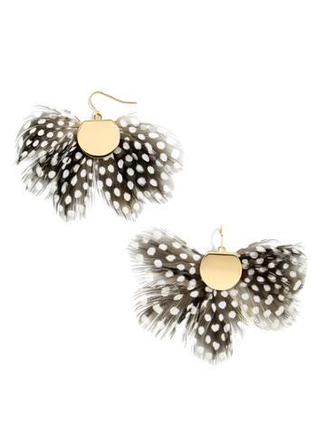 BaubleBar Monarch Feather Earrings