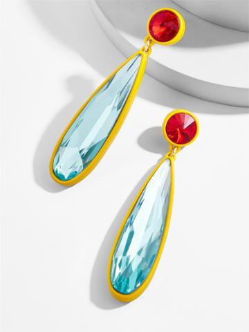 BaubleBar Faye Drop Earrings-Blue