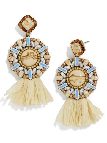 BaubleBar Tahera Raffia Drop Earrings