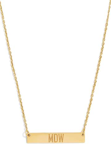 BaubleBar On the Block Initial Pendant Necklace