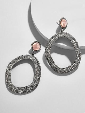 BaubleBar Evamarie Resin Hoop Earrings