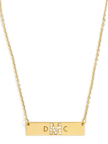 BaubleBar Shine On Initial Pendant Necklace