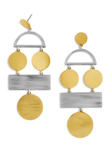 BaubleBar Picasso Drop Earrings-Gold/Silver