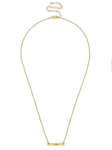 BaubleBar Raise the Bar Nameplate Necklace