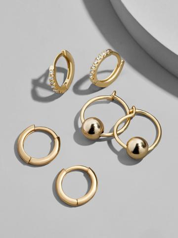 BaubleBar Mini Hoop Earring Set