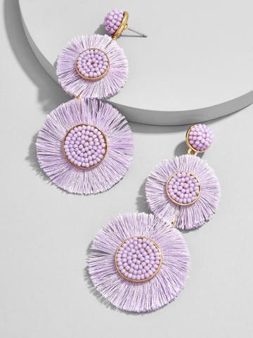 BaubleBar Mariette Fringe Drop Earrings-Lavender