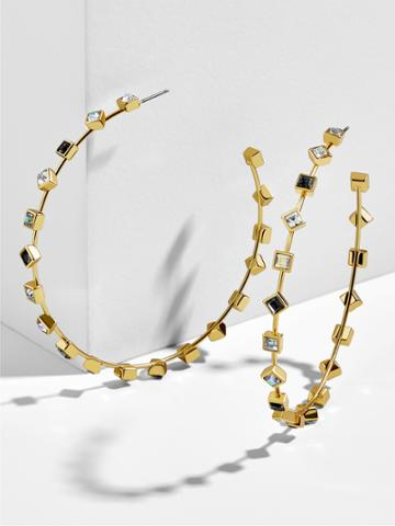BaubleBar Elise Hoop Earrings