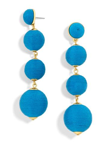 BaubleBar Criselda Ball Drop Earrings-Cerulean