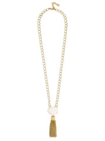 BaubleBar Carisma Semi-Precious Pendant Necklace