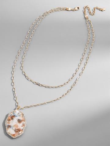 BaubleBar Ellison Resin Pendant Necklace