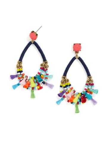 BaubleBar Merengue Hoop Earrings-Navy